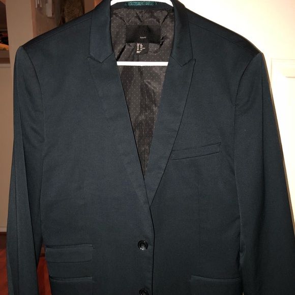 f76a3b67280a H&M Suits & Blazers | Hm Mens Navy Blue Slim Fit Suit 40r And Pants ...